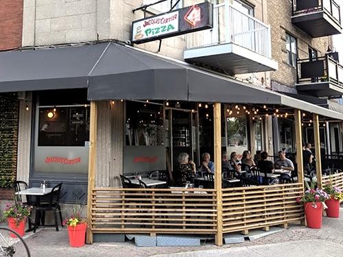 Jacques Cartier Pizza Vieux Longueuil terrasse