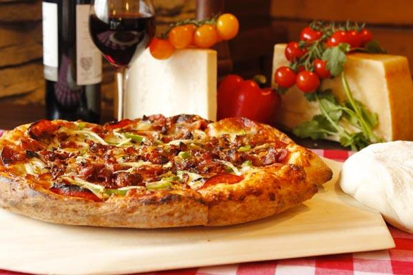 Pizza delicieux plats